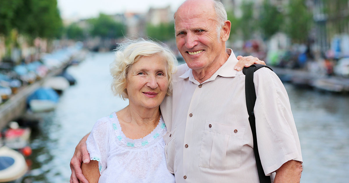 Seniors traveling abroad