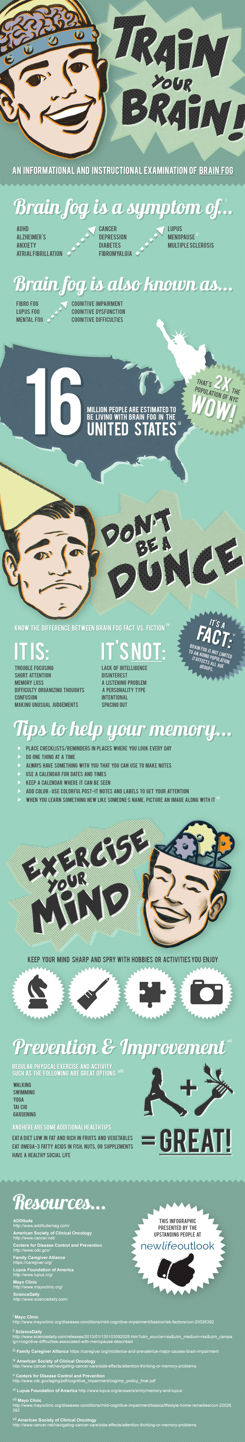 Alzheimer's Infographic - Memory and the Fog