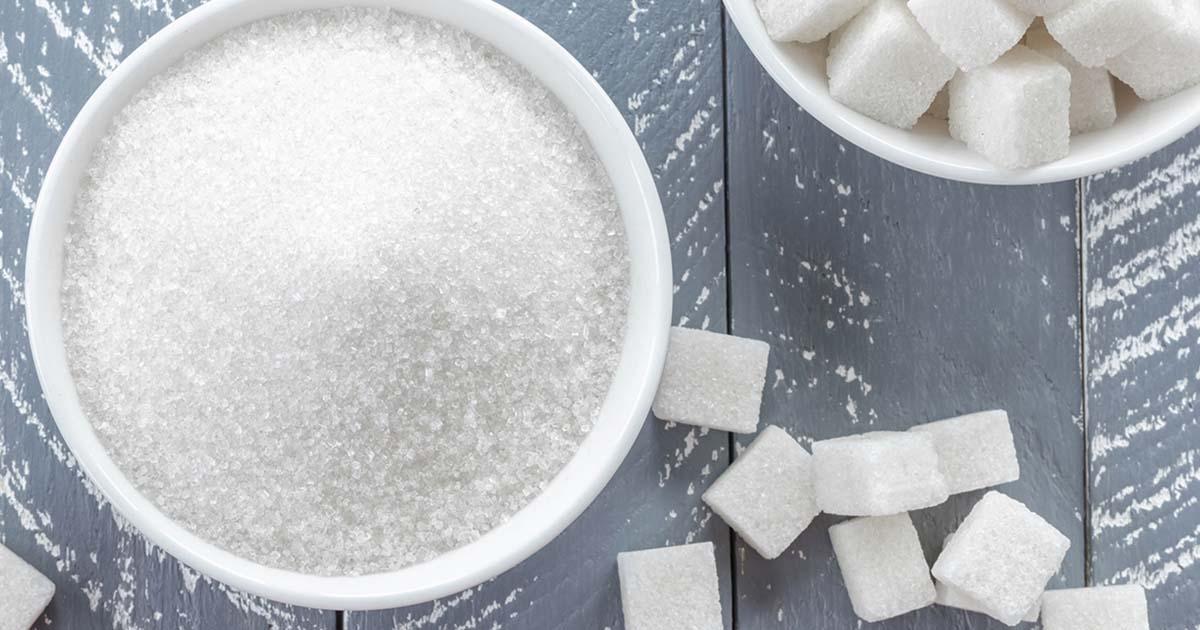 Granular sugar and sugar cubes