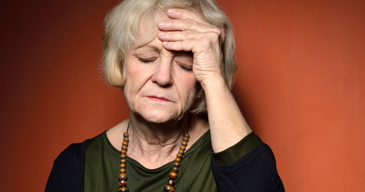 Older woman is exhausted