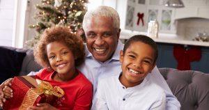 Grandparent with grandchildren